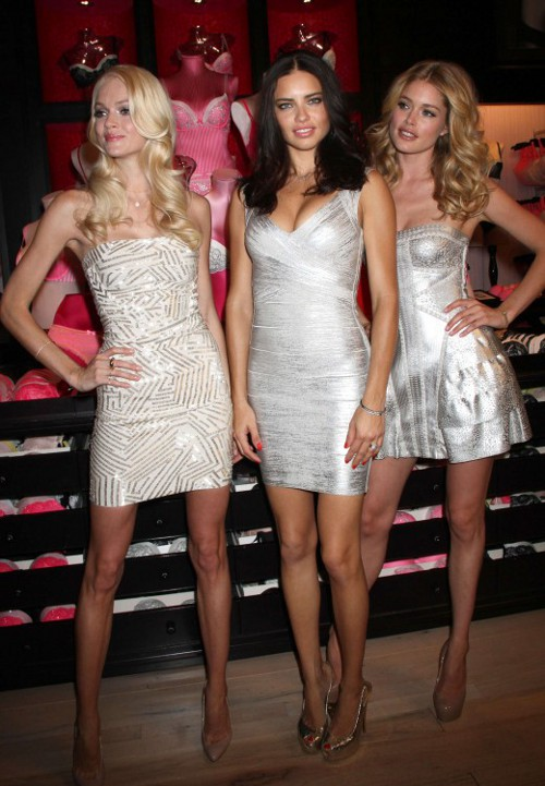 eefbcb801705 victoria secret angels in designer dresses. Want Adriana Lima s ...
