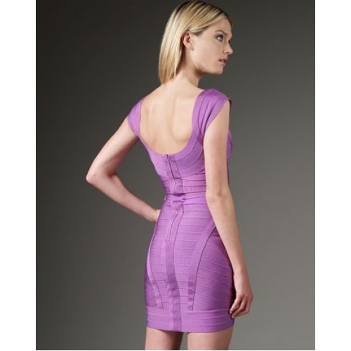 gorgeous light purple bandage dress