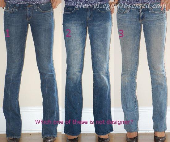 Splurge or Save: Designer vs. Non-Designer Jeans | Herve Leger ...