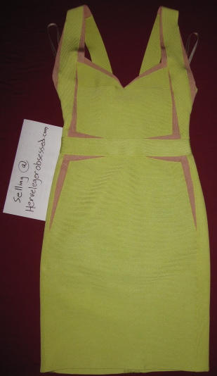 yellow with beige insert dress