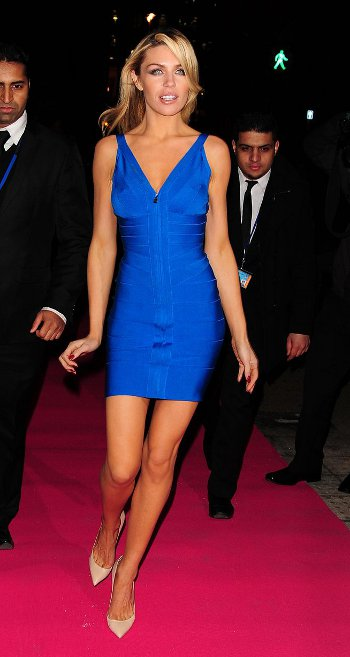beautiful bright blue Herve Leger