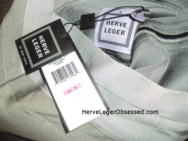 far away low resolution Herve Leger tag FAKE