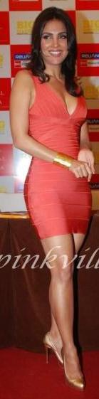 orange Kaitlyn bandage dress
