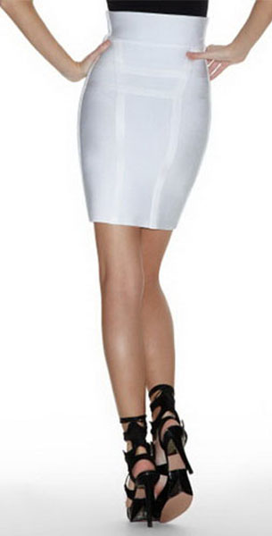 white skirt with trim