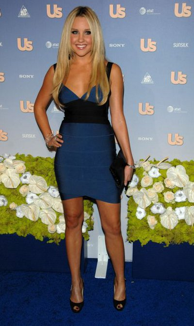 Blue black colorblock dress