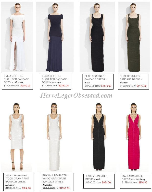 Herve Leger long length dress sale