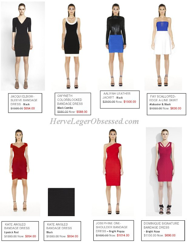 Herve Leger big summer sale