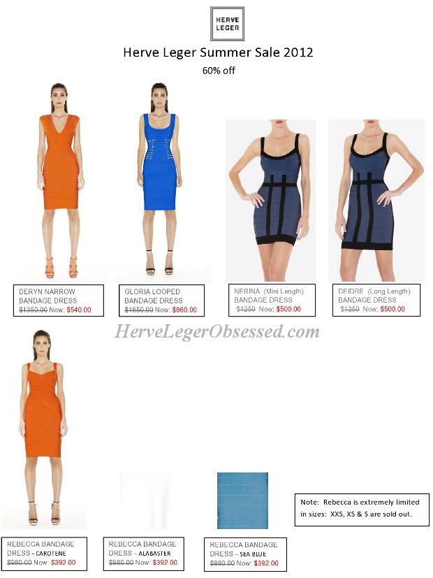 biggest Herve Leger sale
