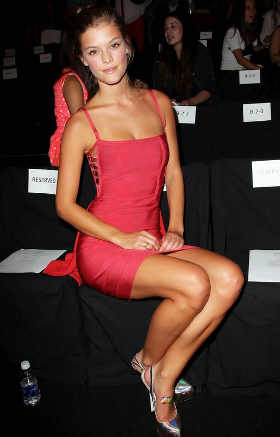 gorgeous red Herve Leger dress with flare