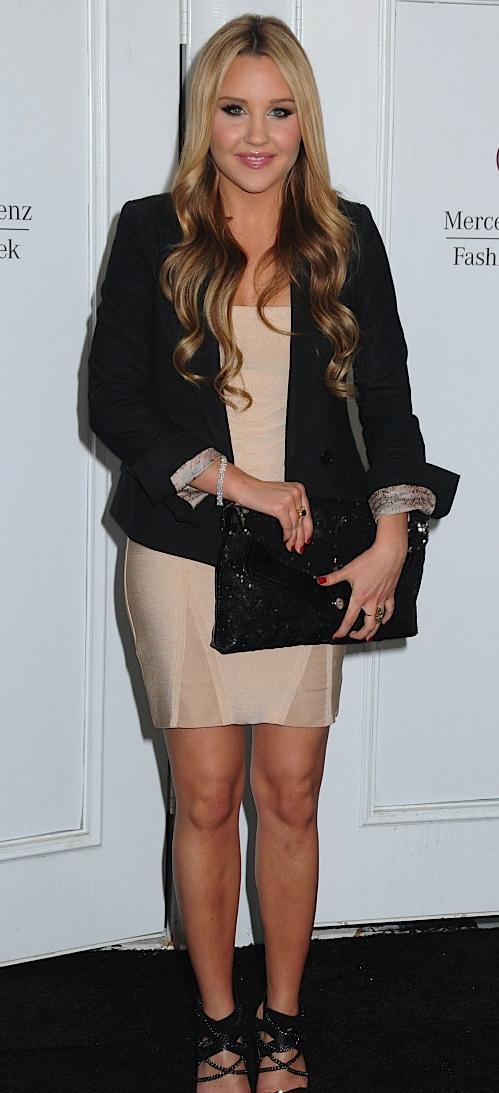 dc293cbce5c1 ... Amanda Bynes Herve Leger Dress with Blazer and accessories